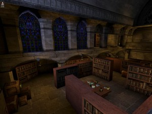 The library under the White Tower hides the entrance into the vault